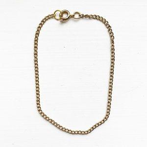 Vintage minimalist gold chain bracelet